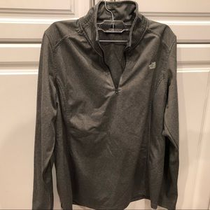 Size 10  The Northface jacket, grey color.